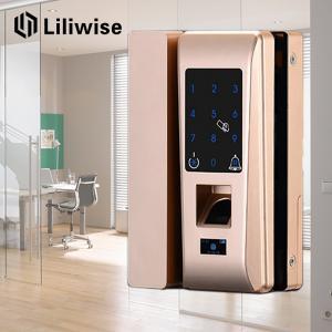 China Smart Apartment Glass Door Lock Support Password Fingerprint 188mm * 111mm on sale