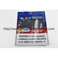 Cheap Plastic Self Sealing Humidity Fresh Cigar Packaging Bag Resealable Ziplock Open And Close for sale