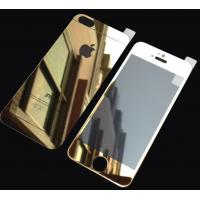 Cheap Gold Tempered Glass Screen Protector Mirror Film For Iphone 5s Front Back for sale