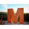 Buy cheap Park Decoration Corten Steel Sculpture Landscape Letter M Rusty Outdoor Metal from wholesalers