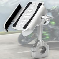 Cheap Aluminium Alloy 360 Degree Adjustment Motorcycle Cell Phone Holder For 4-6.5 Inch Cell Phone for sale
