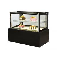 Cheap Straight Glass Door Bread Refrigerated Cake Display Double Layer Air Cooling for sale
