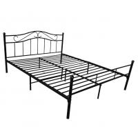 Cheap Easy Assemble Black Metal Platform Bed Customizable Size With Headboard for sale