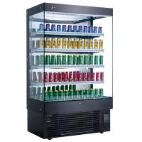 Cheap Air Curtain Upright Chillers Supermarket Display Freezer Cabinets 5 Tier for sale