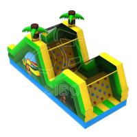 Cheap Inflatable Slide With Climbing For Fun Pvc  Inflatables For Game Center Ce Certification for sale