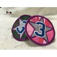 Cheap Adhesive Custom Embroidered Patches German Embroidered Uniform Patches OEM / ODM for sale