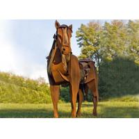 Cheap Life Size Metal Horse Sculpture / Metal Horse Garden Sculpture Rusty Finishing for sale