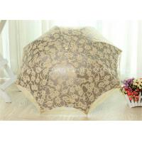 Cheap 3 Fold Strong Windproof Folding Umbrella Sun Parasol Umbrella With Beautiful Lace for sale