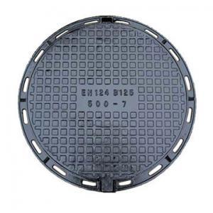 China Ductile Cast Iron Manhole Cover 500 x 500mm Round Manhole Cover on sale