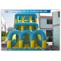 Cheap Funny Inflatable Double Slip N Slide With Pool Climb Stair For Kids Outside Sports for sale