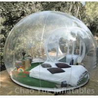 Cheap 0.8mm PVC Single Tunnel Inflatable Bubble Tent for outdoor for sale