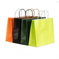 Cheap 5.25x3x8.5inches Gift Kraft Paper Bag for sale