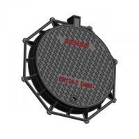 Cheap CTCD85 Steel Manhole Cover Round Eight Angle Ductile Iron EN GJS500-7 for sale