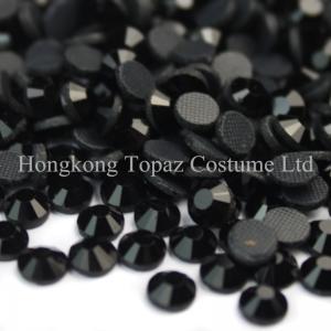 Cheap world dmc hot fix rhinestone MC crystal stone ss10 3mm jet black for sale