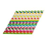 Cheap Oil Resistant Colored Paper Straws , Retro Paper Straws Beautifully Printed Appearance for sale