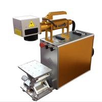 Quality 100X100MM Portable Laser Engraving Machine For Stainless Steel , Laser Marking Device wholesale