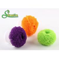Spiral wire plastic scourer fiber ball for kitchen washing/bathroom cleaning