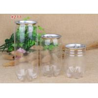 Cheap 345ml Airtight Food Grade PET Beverage Cans Transparent Plastic Canisters for sale