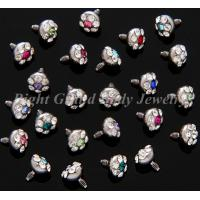 Cheap 316L Surgical Steel Dermal Anchor Jewelry Multi Gems For Wedding for sale