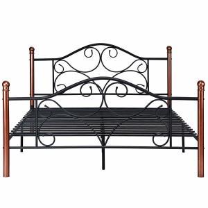 Cheap OEM Fashion Furniture King Size Iron Bed Electrostatic Powder Coating for sale