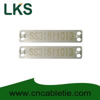 Cheap Stainless 316 90mm x 19mm x 0.5mm cable tag(Laser cable tag) for sale