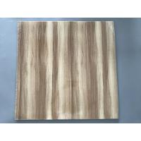 Professional Wooden Flat PVC Ceiling Tiles With Stable Material 595mm / 603mm