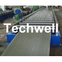 China Corrugated Profile Roofing Sheet Roll Forming Machine With Hydraulic, PLC System on sale