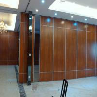China Movable Office Wooden Profiles Aluminum Sliding Wall Partitions For Ballroom on sale