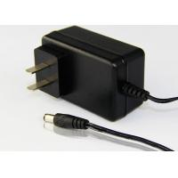 Black AC To DC 15W / 24W Power Adapter With UK Plug Low Ripple / Noise