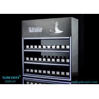 Custom Three Layers Cigarette Display Cabinet With Gliding Dispenser In Shop