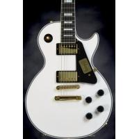 Cheap Gibson Custom Les Paul Electro Acoustic Guitar Alpine White Solidbody for sale