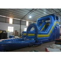 Cheap Digital Printing Long Inflatable Giant Slip And Slide , Amusement Park Outdoor Water Slides for sale