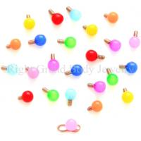 Cheap Acrylic UV Micro Dermal Anchor Jewelry Colorful With Neon Ball For Lady for sale