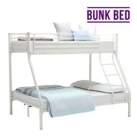 Cheap Space Saving Design Metal Platform Bed , Steel Pipe Bunk Bed For Adults for sale