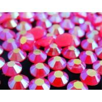 Cheap florescent hot fix resin rhinestone for dress for sale