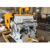 Buy cheap Manual Die Cutting Machine , Creasing And Die Cutting Machine For Cardboard / from wholesalers