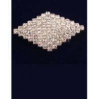 Cheap Korean Fashion Rhombus Imitation Diamond Brooch for Women in Jewelry Factory Direct 2015 for sale