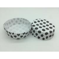 Cheap Round Shape Wedding Black And White Polka Dot Cupcake Liners Greaseless Non Stick for sale