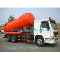Cheap SINOTRUCK HOWO 12M3 Sewage Suction Truck 6X4 in White , 290HP 336HP for sale