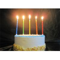 Star Printed Personalized Birthday Candles Red Blue Yellow Green Orange Pillar Candles Manufactures