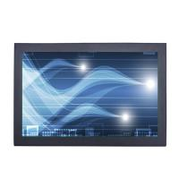 15.6 inch industrial chassis LCD touch monitor displays with VGA,DVI, HDMI input for industrial control