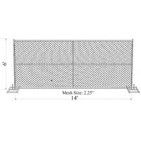 """Cheap 6' x 14' """"wise man"""" temporary chain link fence panels cross brace chain wire 60mm x 60mm for sale"""