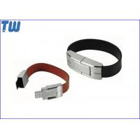 Solid Leather Bracelet 4GB USB Memory Drive Personalized Branding