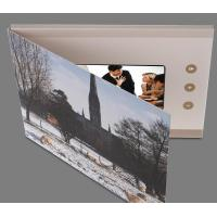 Leather 4.3 Inch Hard Cover Lcd Video Brochure Card With Touch Screen / SD Card