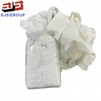 Cheap Industrial Cleaning White T Shirt 100 Cotton Rags With No Zipper for sale