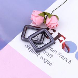 Cheap Electrophoresis Handbag Rings Hardware Zinc Alloy Rectangle Rings Washable for sale