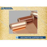 Buy cheap Red C11000  T2 TP2 TU2 Decorative Copper Foil Roll for Electric Spring from wholesalers
