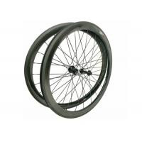 Cheap 23MM Width 700C Carbon Road Bike Wheels 45MM Clincher Shiny / Matte Finishing for sale