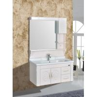 China Embossing PVC Wall Hanging Bathroom Vanity / Bathroom Decoration Furniture on sale
