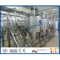 Milk Processing Project Dairy Processing Plant With Stainless Steel Fermentation Tanks